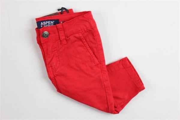 tasca america ASPEN POLO CLUB | Pantaloni | 1071P0110ROSSO
