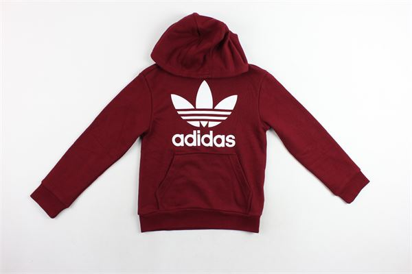felpa con cappuccio e stampa adidas Adidas | Felpe | CD6501BORDEAU