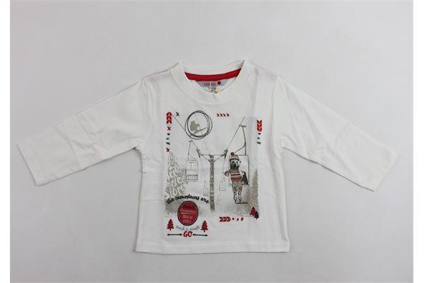 shirt m/lunga stampa orso che scia BOBOLI | Shirts | 316055BIANCO