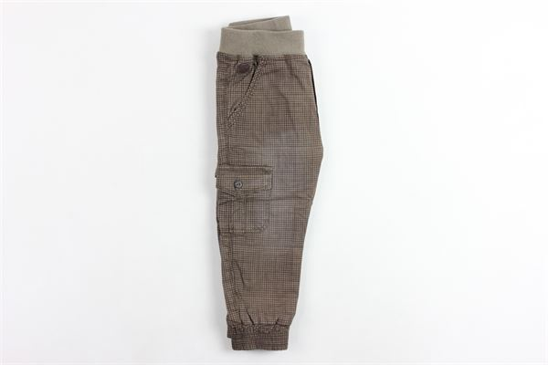 pantalone quadrettini con tasconi BOBOLI | Pantaloni | 316099MARRONE