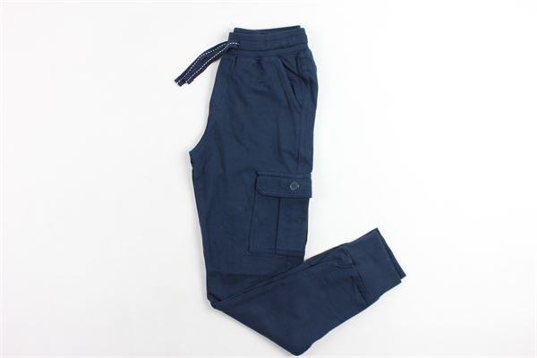pantalone in felpa con tasconi BOBOLI | Pantaloni | 595054BLU