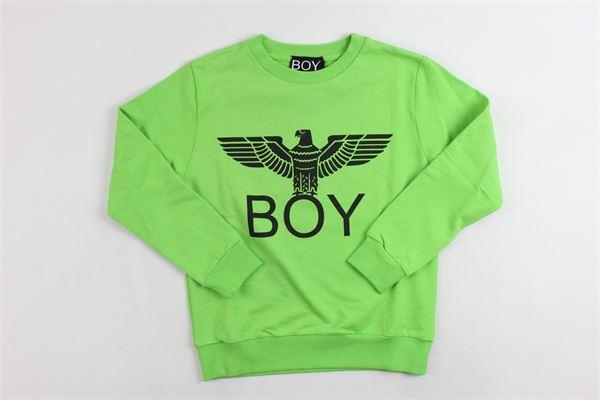 girocollo con stampa boy london BOY LONDON | Felpe | GFBL024VERDE