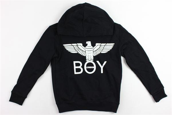 felpa con cappuccio stampa boy BOY LONDON | Felpe | GFBL183200JNERO