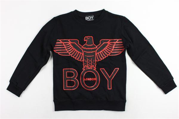 felpa girocollo con stampa aquila e boy BOY LONDON | Felpe | GFBL183256JNERO