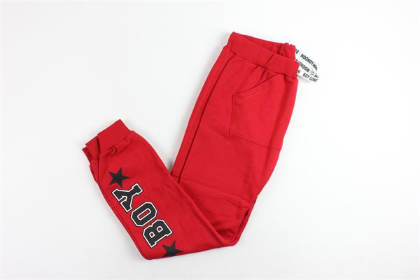 pant5alone in felpa BOY LONDON | Pantaloni | PFBL183216JROSSO