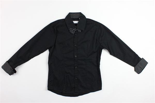 camicia con collo e polsi a pois BRIAN RUSH | Camicie | BR1703NERO