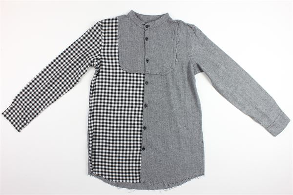 camicia m/l profili in contrasto BRIAN RUSH | Camicie | BR19PS159NERO