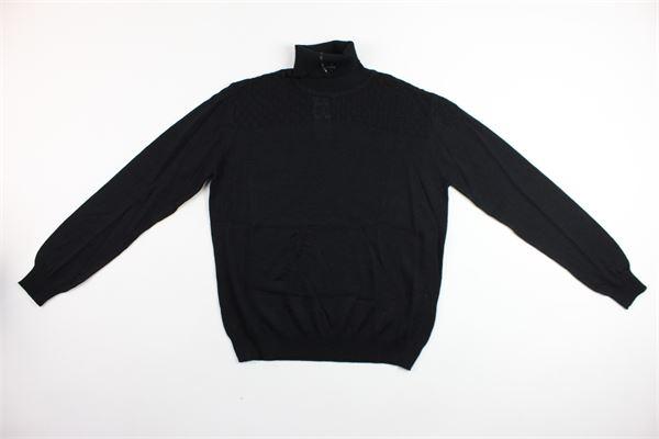 maglia collo alto tinta unita BRIAN RUSH | Maglie | BR19TN010NERO