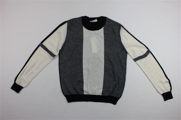 maglia girocollo bicolore BRIAN RUSH | Maglie | BR19TN015BIANCO