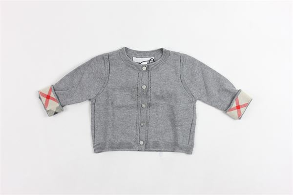 cardigan con bottoni BURBERRY | Maglie | 40113261005GRIGIO