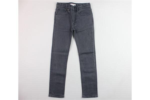 jeans 5 tasche tinta unita BURBERRY | Jeans | 40182931001GRIGIO