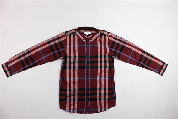 camicia scozzese con bottoncini BURBERRY | Camicie | 40517251002ROSSO