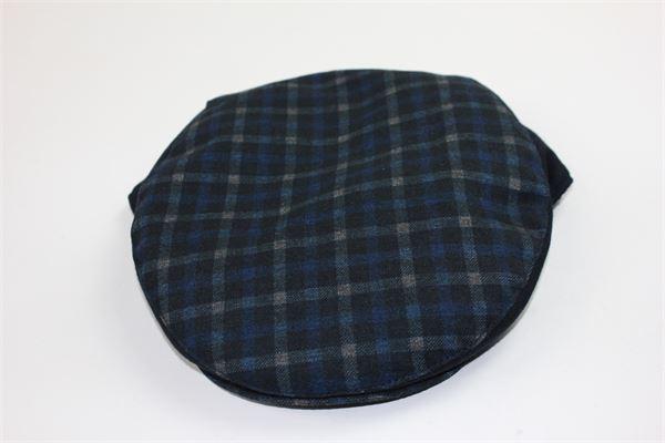 cappello modello coppola fantasia a quadri CESARE PACIOTTI | Cappelli | CAP710BPBLU