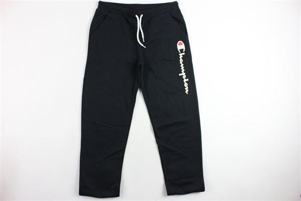 pantalone in felpa stampa champion CHAMPION | Pantaloni | 304749NERO