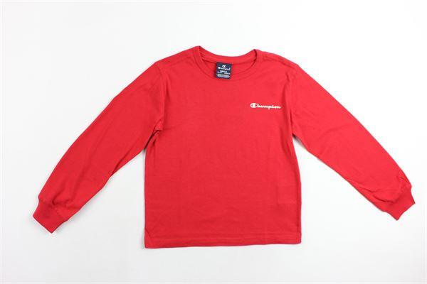 shirt m/l con stampa CHAMPION | Shirts | 304750ROSSO