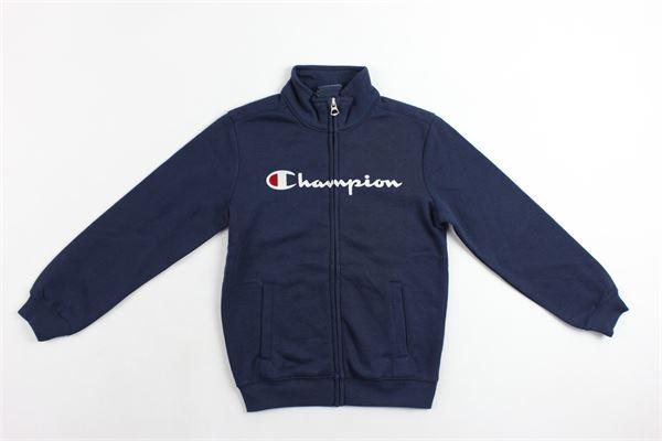 felpa collo alto zip e stampa champion CHAMPION | Felpe | 304789BLUE