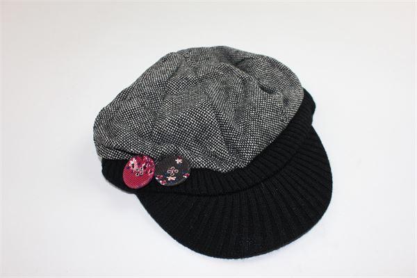cappello tweed con visiera e applicazioni CHICCO | Cappelli | 059624NERO