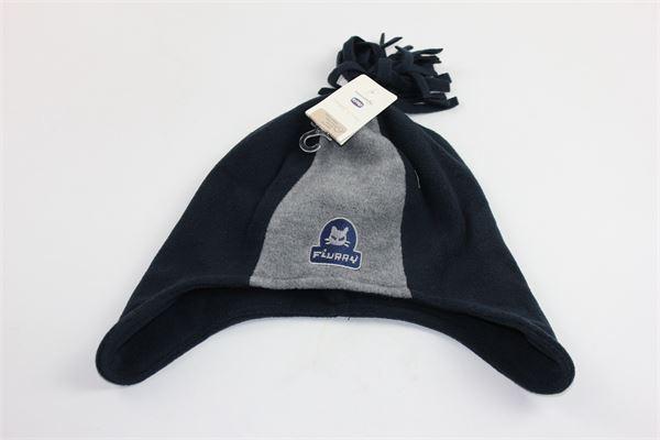 cappello in pile nbicolore con pon pon sfrangiato CHICCO | Cappelli | 42774BLU