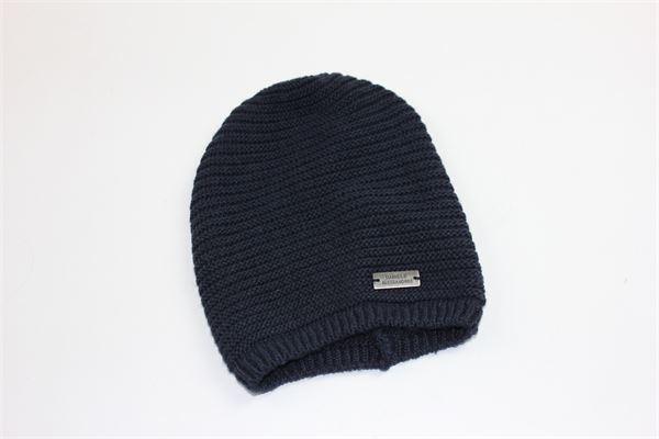 cappello tinta unita con stampa DANIELE ALESSANDRINI | Cappelli | CAPPELLODANIELEALESSANDRINI1BLU