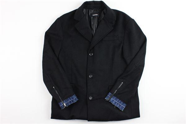 cappotto con polsini DIESEL | Giubbini | 00J3ITXA7HNERO