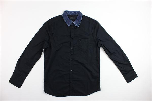 camicia m/lunga collo in jeans DIESEL | Camicie | 00J3J1-KXAXH-K9NERO