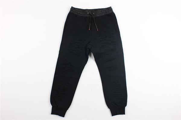 pantalone in felpa con strappi DIESEL | Pantaloni | 00J403NERO