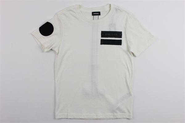 t-shirt con stampa DIESEL | T-shirts | 00J467BIANCO