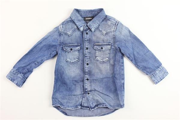 camicia in denim con taschino DIESEL | Camicie | 00K1IUBLU