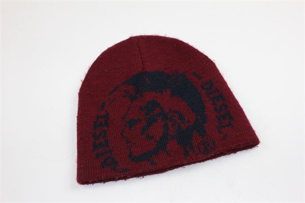 cappello tinta unita con stampa DIESEL | Cappelli | CAPPELLODIESEL1ROSSO