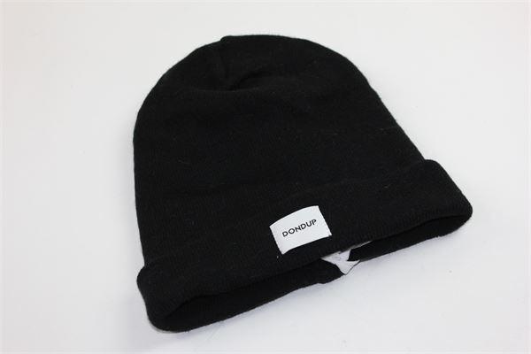 cappello tinta unita con stampa dondup DONDUP | Cappelli | DFCP10NERO