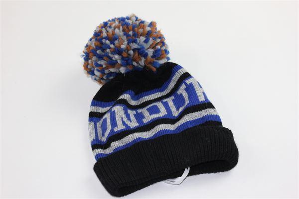 cappello con pon pon e stampa dondup DONDUP | Cappelli | DMCP07BLU