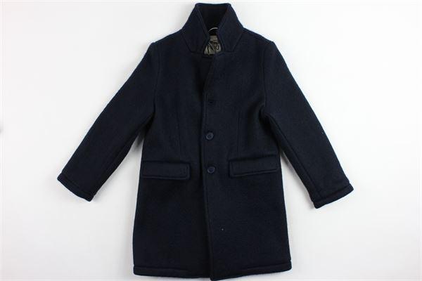 cappotto modello lungo tinta unita DOU DOU | Giubbini | 208047BLUE