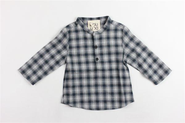 camicia collo coreano a quadri DOU DOU | Camicie | 208228GRIGIO