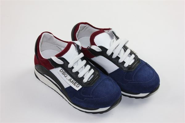 scarpe snickers con lacci DSQUARED | Scarpe | 57156BLU