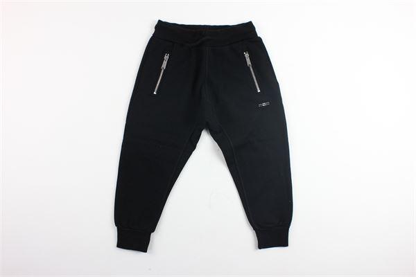 pantalone in felpa tinta unita e zip alle tasche DSQUARED | Pantaloni | DQ01HG-D00L2NERO