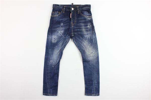jeans 5 tasche con strappi DSQUARED | Jeans | DQ01PU-D00PVBLU