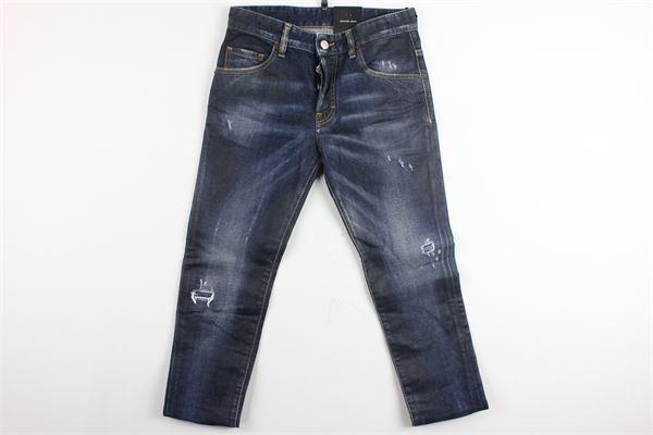 jeans 5 tasche con strappi DSQUARED | Jeans | DQ021D-D00PTBLU