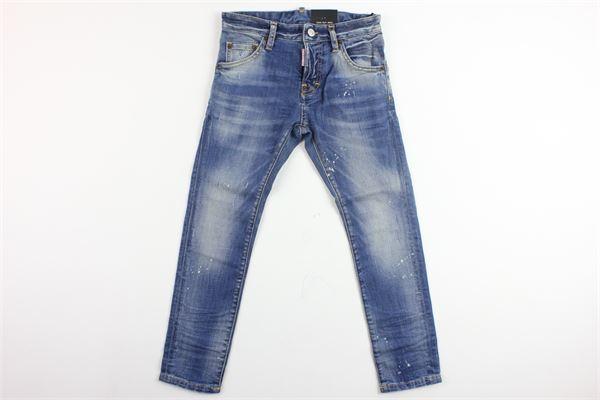jeans 5 tasche tinta unita DSQUARED | Jeans | DQ021D-D00REAZZURRO