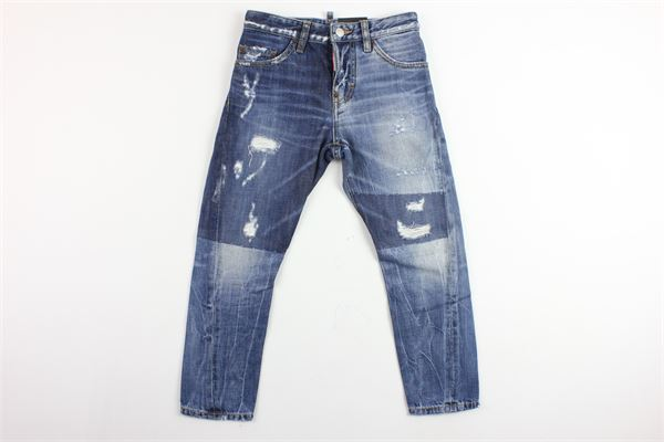 jeans 5 tasche con strappi DSQUARED | Jeans | DQ021H-D00N7BLU