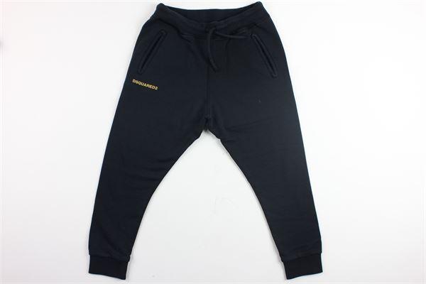 pantalone in felpa con stampa dsquared DSQUARED | Pantaloni | DQ02E1-D00P6BLU