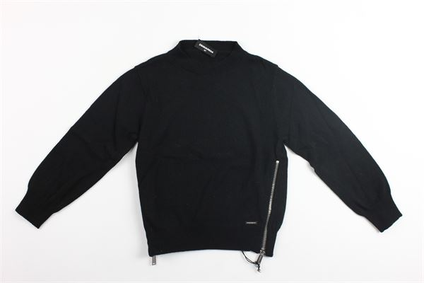 maglia girocollo con profili zip DSQUARED | Maglie | DQ02EZ-D00NUNERO