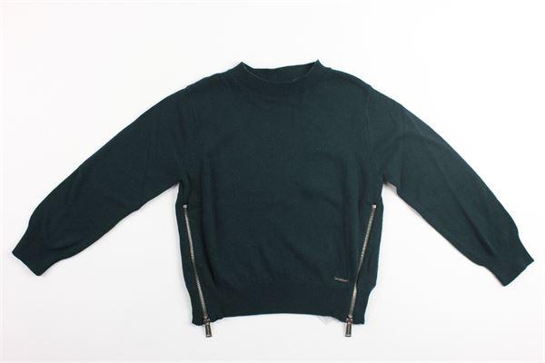 maglia girocollo con profili zip DSQUARED | Maglie | DQ02EZ-D00NUVERDE