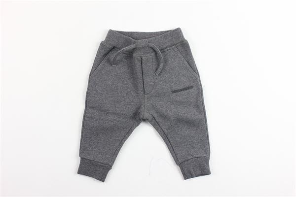 pantalone in felpa cavallo basso DSQUARED | Pantaloni | DQ02FDGRIGIO