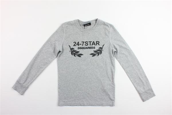 shirt m/l con stampa DSQUARED | Shirts | DQ02IZ-D00MSGRIGIO