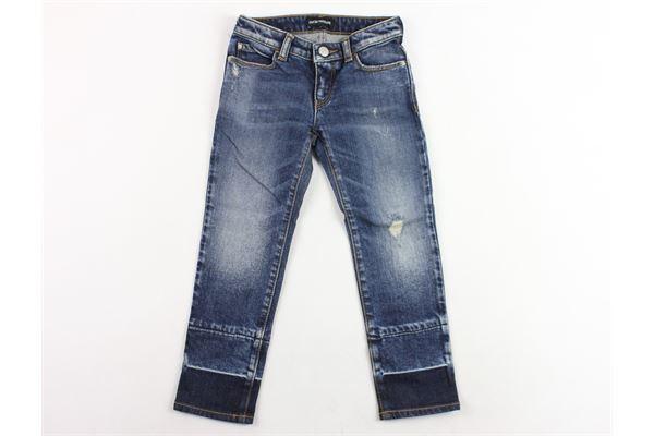 jeans 5 tasche con strappo EMPORIO ARMANI | Jeans | 6Z3J06BLU