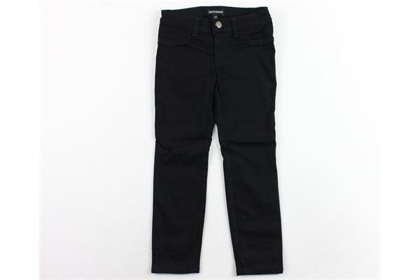 pantalone  tinta unita con logo EMPORIO ARMANI | Pantaloni | 6Z3J32NERO