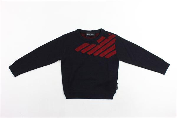 maglia girocollo con stmpa logo emporio armani EMPORIO ARMANI | Maglie | 6Z4MY51MTTZNERO