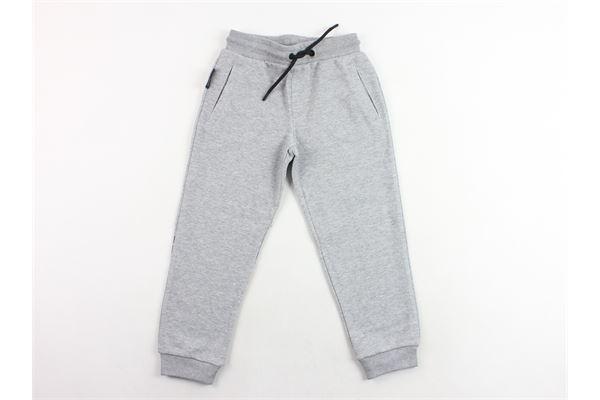 pantalone in felpa tinta unita con logo dietro EMPORIO ARMANI | Pantaloni | 6Z4P98GRIGIO