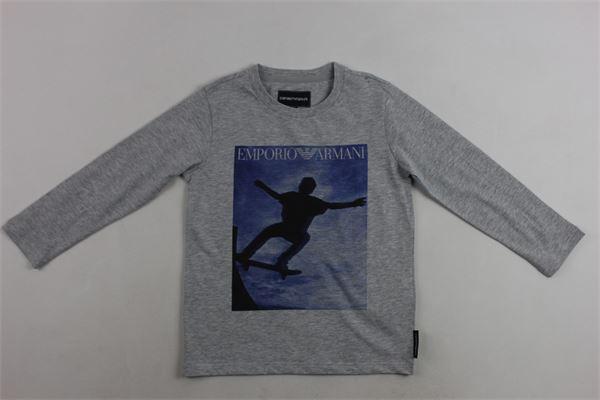 shirt m/l con stampa emporio armani EMPORIO ARMANI | Shirts | 6Z4T01GRIGIO