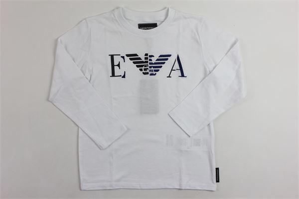 con stampa EMPORIO ARMANI | Shirts | 6Z4TF3BIANCO
